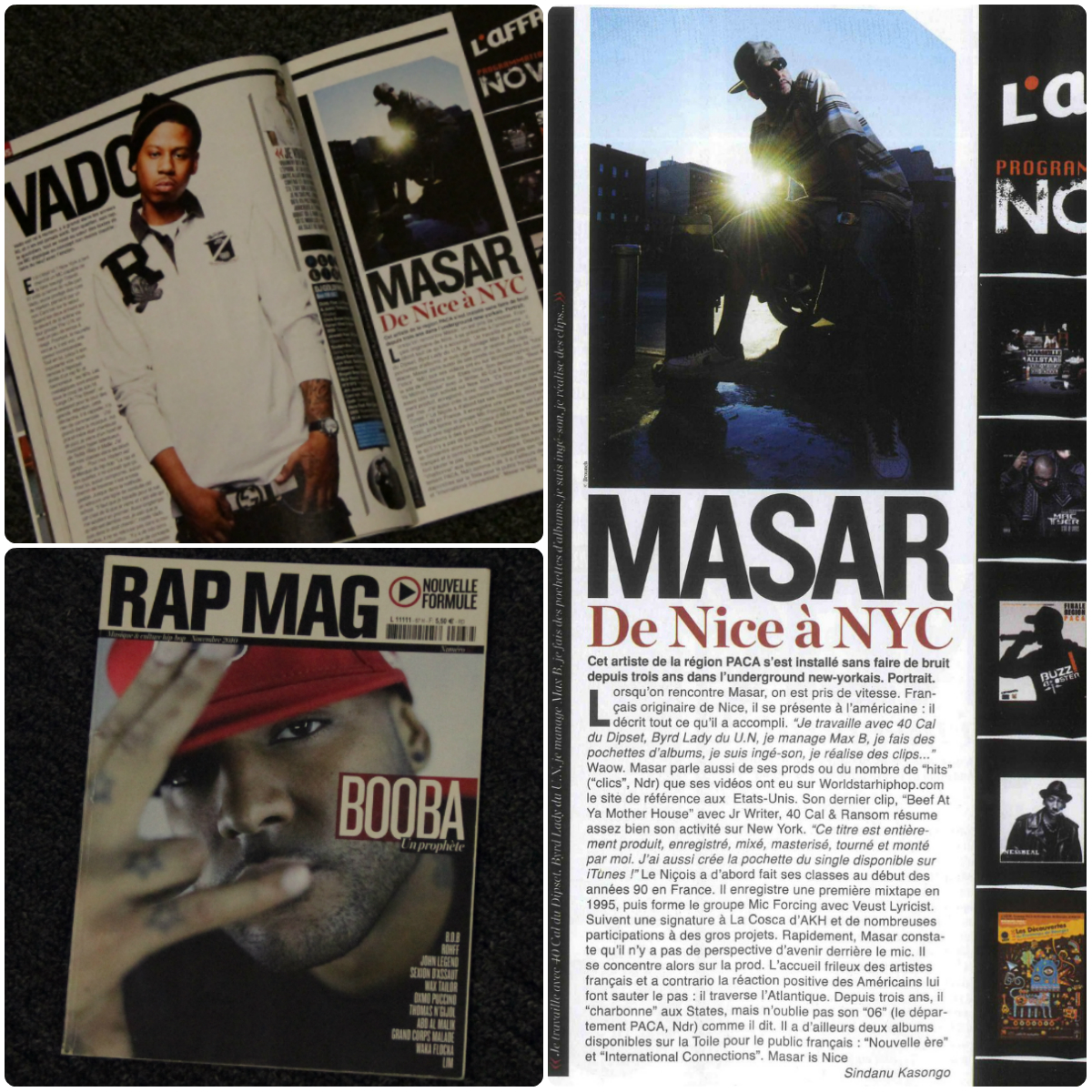 Masar on Rap Mag (Biggest Hip Hop Magazine in Europe)