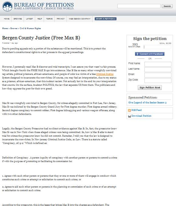 Max B Petition – The Donation Link Is A SCAM