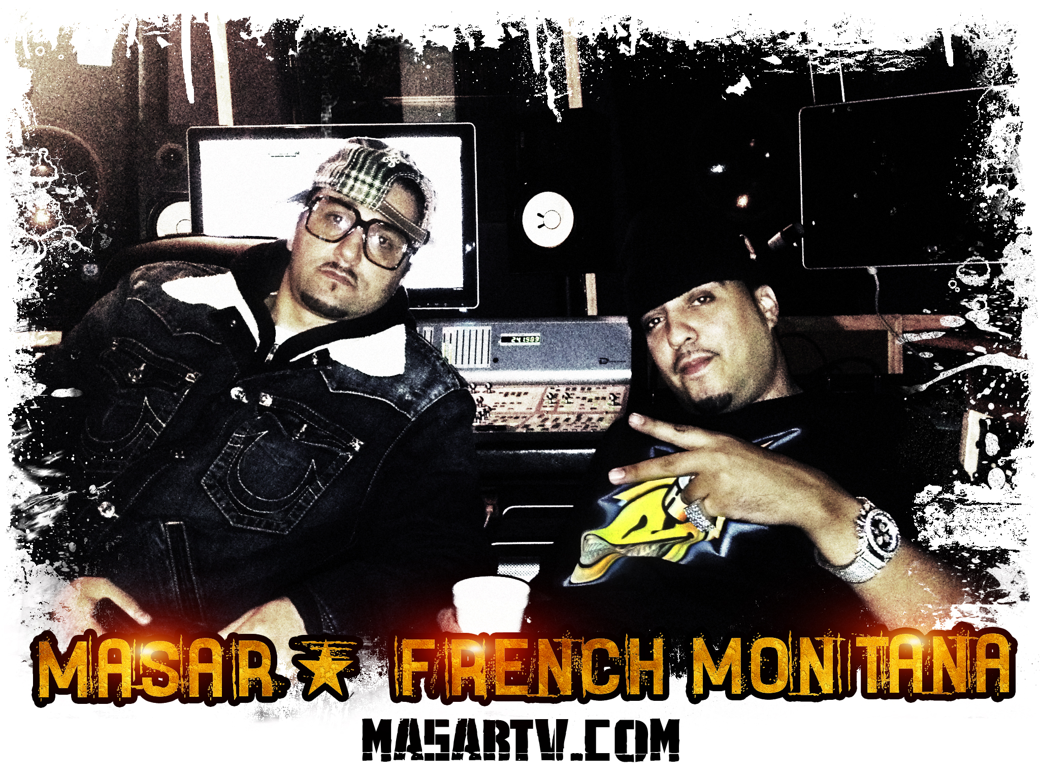 Masar in the studio W/ French Montana