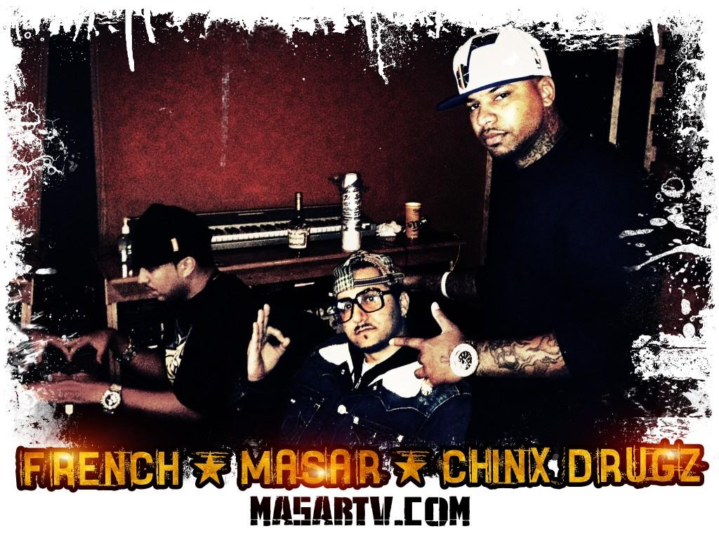 Masar & Chinx in the studio