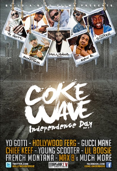 Hollywood Ferg ''Coke Wave'' DVD Cover designed by Masar