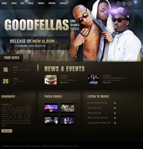 Goodfellas' New Website Developed by Masar Tv
