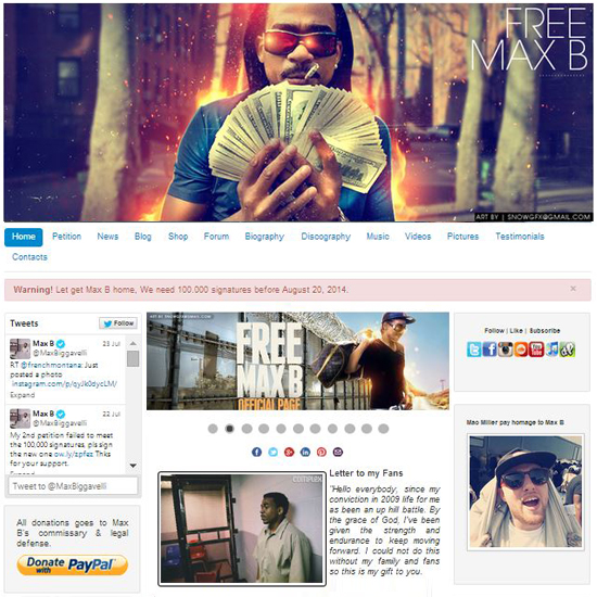Support Max B| Website Developed by Masar