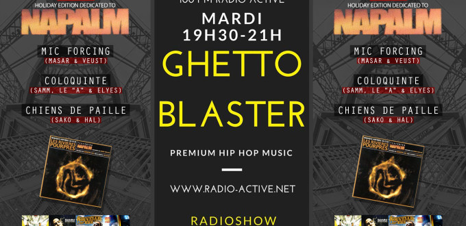 radio show ghetto blaster napalm masar veust mic forcing