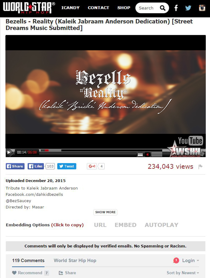 """Bezells """"Reality""""   Directed by Masar (Now on WSHH)"""