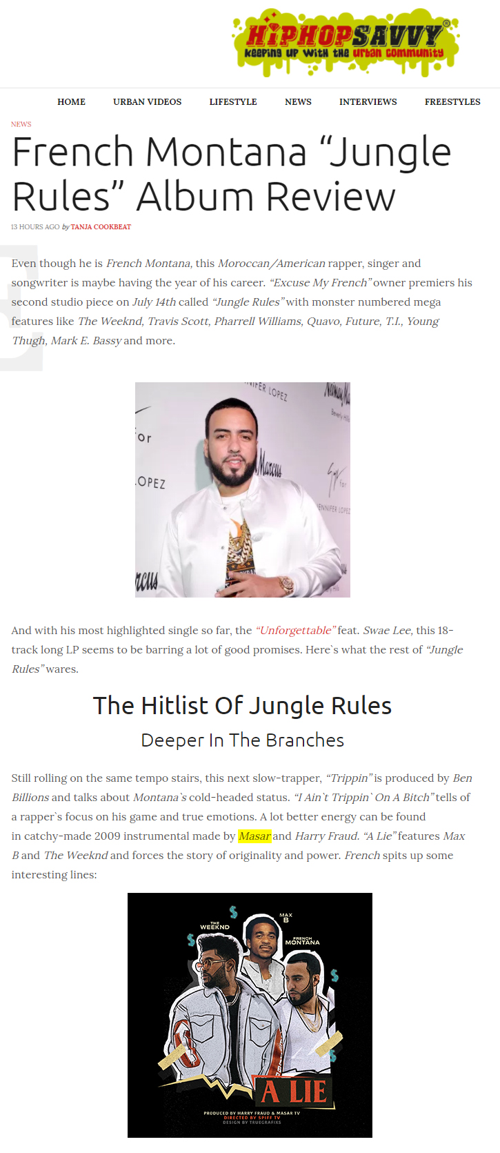 French Montana Masar Tv Jungle Rules Album Review HipHopSavvy