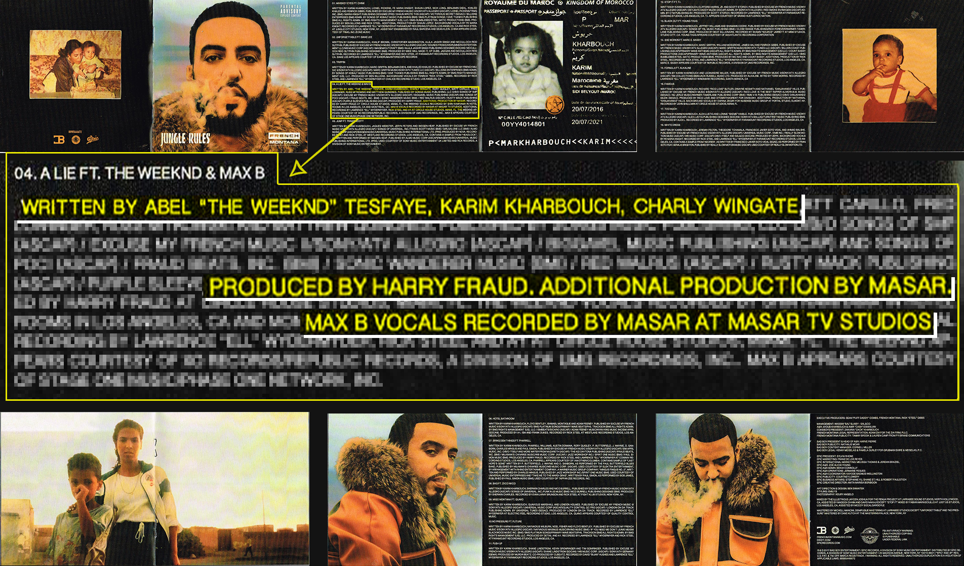 masar tv jungle rules a lie max b the weeknd french montana harry fraud booklet cd album
