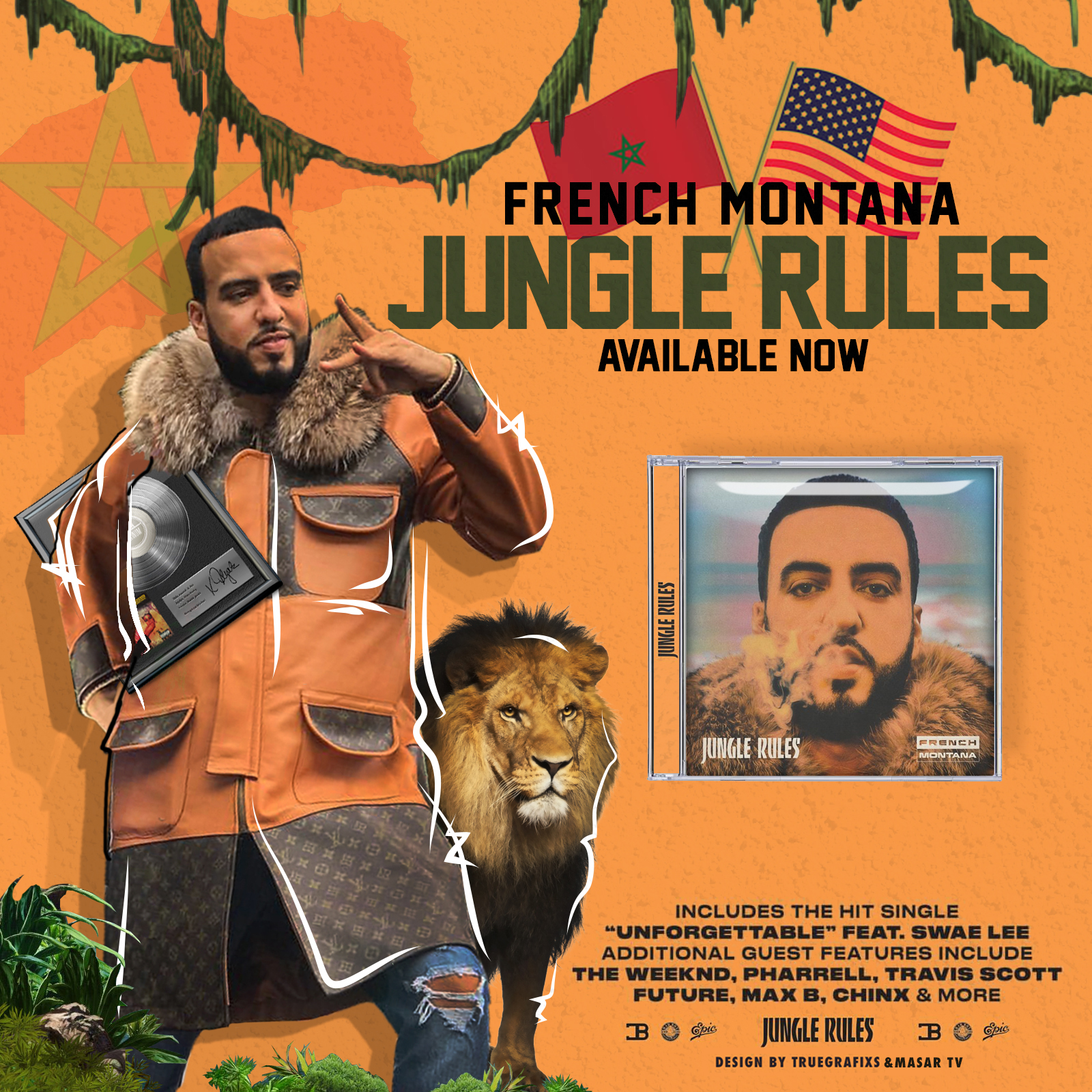 truegrafixs masar tv french montana max b jungle rules weeknd